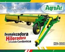 Desmalezadora Hileradora HD4006 Agroar Nueva