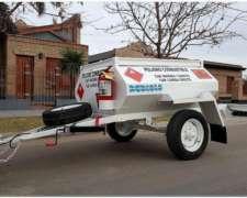 Acoplado Tanque Cisterna de Chapa para 1.000 Lts.