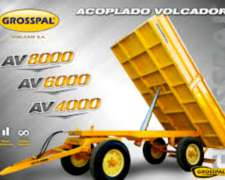 Acoplado Volcador Hidraulico 4-6 y 8 TT. D/trasera Grosspal