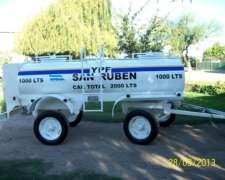 Acoplado Cisterna de 1000 a 5000 Lts