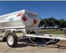 Acoplado Tanque Cisterna de Chapa para Combustible 2000 Lts.