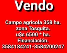 Se Vende Campo en Zona de Tosquita, Córdoba.
