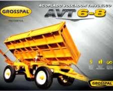 Acoplado Trivolcador AVT 6 y 8 TT. Grosspal