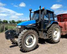 Tractor New Holland TS 120 con Cabina - 8600 Horas