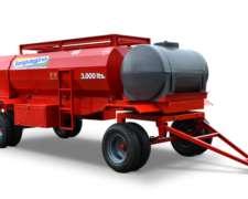 Acoplado Tanque de Combustibles 3000 Lts con Baulera Impagro