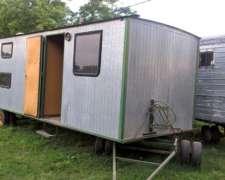 Casilla Rural 5.50mts,baño,heladera,cocina Y Pantalla Solar.