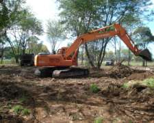 Excavadora Daewoo S220 - Trabajando