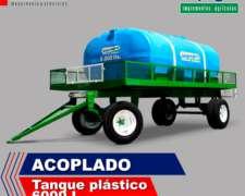Acoplado Tanque Plastico Impagro 6000 L