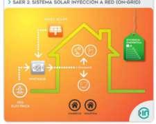 Saer 2: Sistema Solar Inyección a RED (on-grid) - Insaer