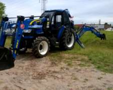 Tractor New Holland TD 75 F con Pala y Retro OM