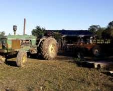 Tractor Jhon Deere 3140 Año 86 Con Rome Pesada De 24 Discos