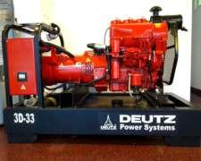 Grupo Electrogeno Deutz Mod 3d-33 Vt