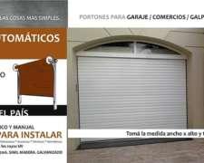 Portones Automáticos Enrollables Inyectados