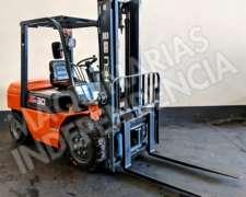 Autoelevador Heli 3000 Kg Diesel CPCD30 Desplazador 0km