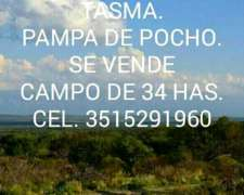 Tasma, Pampa de Pocho, Cordoba SE Vende Campo de 34 Has.