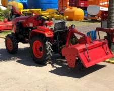 Tractor Hanomah Stark 25 HP 4X4 con Rotovator Impecable