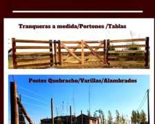 Postes 3x3x 2,20 Quebracho Colorado Cuadrados.