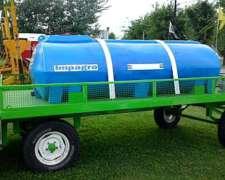 Acoplado Tanque 3000 Lts Plastico Nuevos