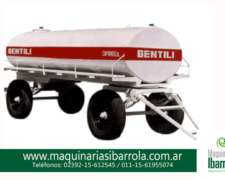 Tanque Plastico Movile Comun Gentili Fibra de Vidrio 3000lts