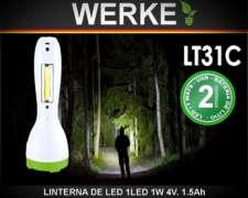 Linterna 1w con Puerto Usb. (23cm)