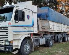 Camion Scania 113 310hp con Batea