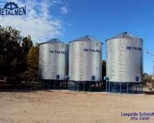 Metalmen. Silos Fabricados en Colonia Menonita. 120 TN