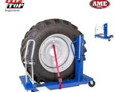 Carro Para Des/montar Y Mover Fácil Neumáticos De Tractor