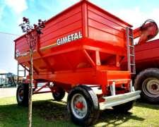 Tolva Semillas Y Fertilizantes Gimetal 14000 L. Con Noria