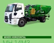 Mixer Horizontal H14M3 Aplicable Camión Montecor.