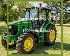 Tractor John Deere 5090e, con Cabina 90 HP y Tracción Doble