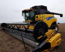 Cosechadora New Holland CR 980 con Draper