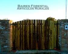 Portónes Varios Modelos En Madera Dura Guayubira