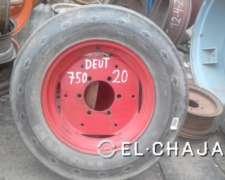 Llanta y Cubierta Agricola para Tractor 750-20 (deutz)