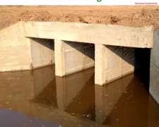 Paso de Agua 8 Mts – Alcantarillas Rectangulares 2,00 X 1,50
