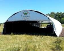 Túnel De Viento Cama Profunda Cerdos - Kit Listo P/ Instalar