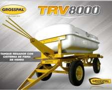 Acoplado Regador Cisterna Fibra De Vidrio Trv 8000- Grosspal