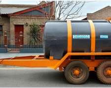 Acoplado Cisterna con Tanque Plastico para 6.000 Lts. 2 Ejes