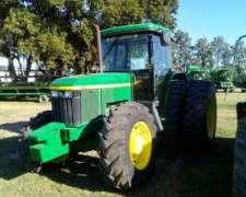 Tractor John Deere 7505, 140 HP, C/duales, 2005