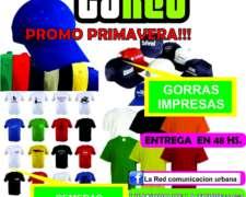 Art.de Promocion,gorras Remeras Carteles Calcos