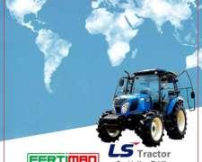 Tractor LS Plus 100, 112 HP, 11% de Mercado Brasilero
