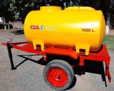Acoplado Tanque Plastico 1.500 Lts 1 Eje - Disponible