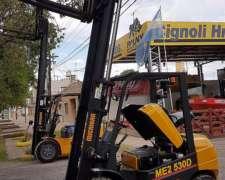 Autoelevador Michigan 2,5t y 3m Altura Vende Cignoli Hnos