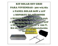Kit Solar Autoinstalable 320 Wh/día