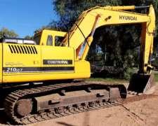 Excavadora Hyundai 210 - muy Buen Estado