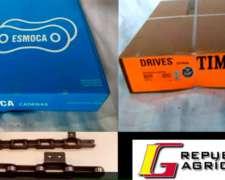 Cadenas para Cosechadoras ASA 40 Marca Drives / Donghua.