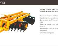 Rastra Super Tiro Excéntrico Pesada Campra Transportable
