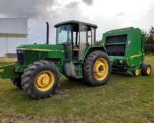 Tractor John Deere + Rotoenfardadora John Deere