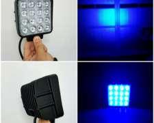 Faro 48 W Azul 16 LED para Botalon