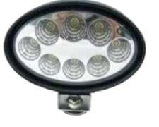 Faro Oval Univ LED 24 W Claro 8 LED
