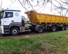 Camion M. B. Axor 2035 Mod 2010, Batea Salto 2008 Impecables